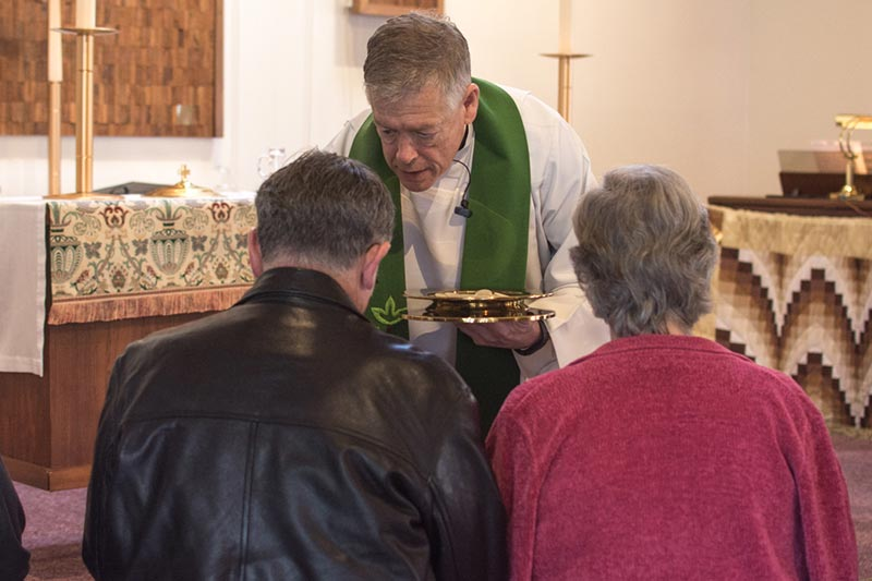 Communion at Holy Cross Lutheran Church in Bellevue, WA